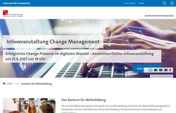 Vorschau von www.aww.uni-hamburg.de, Arbeitsstelle für Wissenschaftliche Weiterbildung