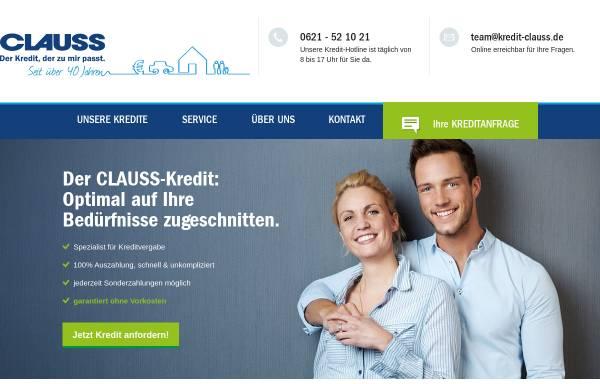 Vorschau von www.kredit-clauss.de, Clauss Kapitalvermittlungsgesellschaft mbH