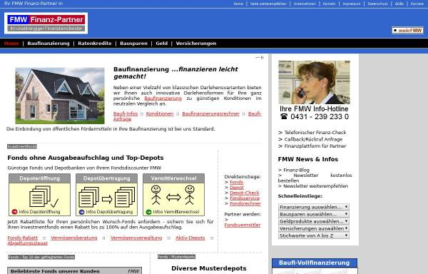 Vorschau von www.fmw-finanzberatung.de, FMW Finanzberatung GmbH