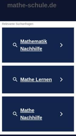 Vorschau der mobilen Webseite www.mathe-schule.de, Mathe-Physik-Info
