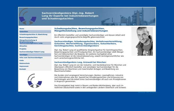 Vorschau von www.sv-lang.de, Sachverständigenbüro Dipl.-Ing. Robert Lang