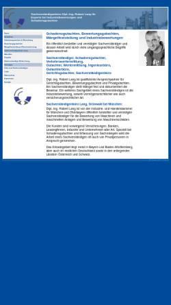 Vorschau der mobilen Webseite www.sv-lang.de, Sachverständigenbüro Dipl.-Ing. Robert Lang