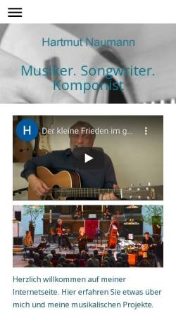 Vorschau der mobilen Webseite hartmut-naumann.de, Naumann, Hartmut