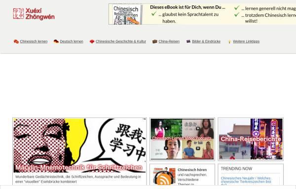 Vorschau von www.xuexizhongwen.de, Chinesisch lernen