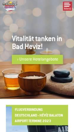 Vorschau der mobilen Webseite www.mutsch-reisen.de, Mutsch´s Ungarn-Reisen