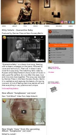 Vorschau der mobilen Webseite www.kitty-solaris.de, Solaris, Kitty