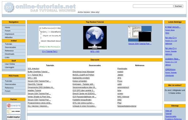 Vorschau von www.online-tutorials.net, Online-tutorials.net