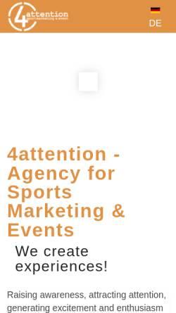 Vorschau der mobilen Webseite 4attention.de, 4attention GmbH & Co. KG