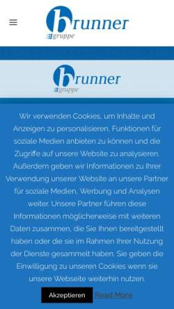 Vorschau der mobilen Webseite www.brunner-gruppe.de, Brunner Mobil Werbung GmbH & Co KG