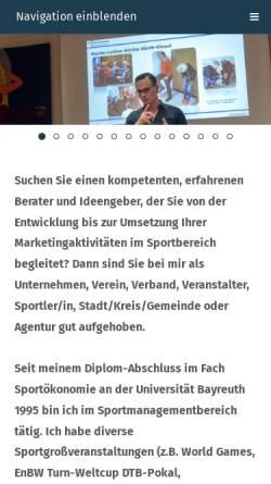 Vorschau der mobilen Webseite www.dssportmarketing.de, DS Sportmarketing, Dirk Schröter