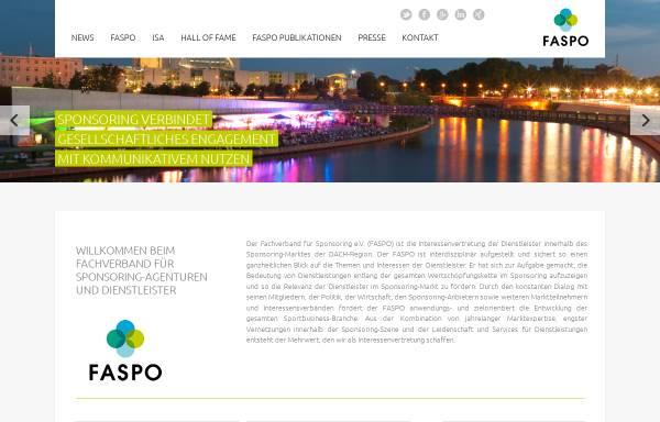 Vorschau von www.faspo.de, FASPO - Fachverband für Sponsoring & Sonderwerbeformen e.V.