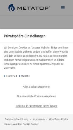 Vorschau der mobilen Webseite www.metatop.de, Metatop GmbH