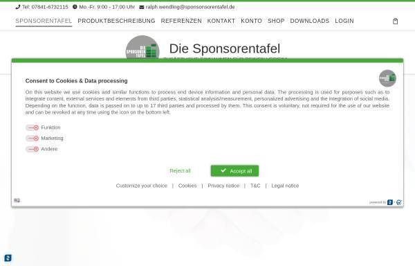 Vorschau von www.vereinsmarketing.com, Wendling Sponsoringagentur