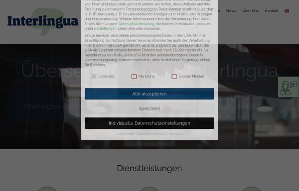 Vorschau von www.interlingua.at, Interlingua Language Services (ILS) GmbH