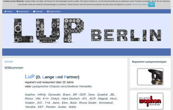 Vorschau von lup-berlin.de, D.Lange und Partner GbR