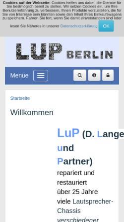 Vorschau der mobilen Webseite lup-berlin.de, D.Lange und Partner GbR