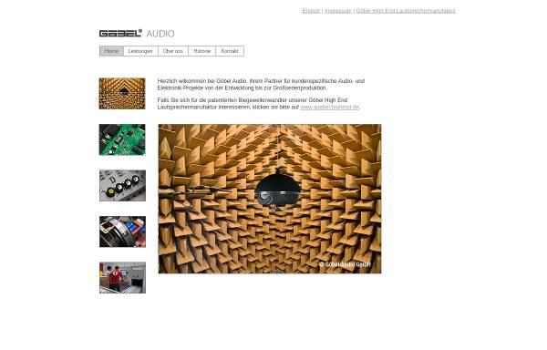 Vorschau von www.goebel-audio.de, Göbel Audio