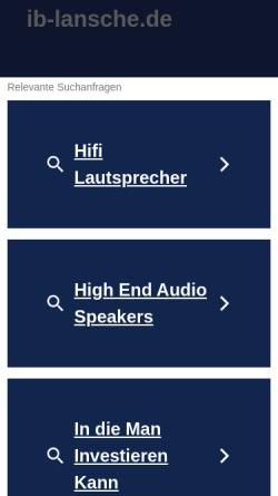 Vorschau der mobilen Webseite www.ib-lansche.de, Lansche Audio Systems