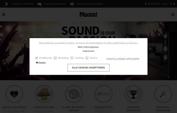 Vorschau von www.magnat.de, Magnat Audio Produkte GmbH