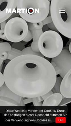 Vorschau der mobilen Webseite martion.de, Martion Audiosysteme