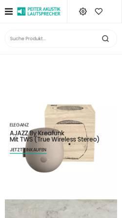 Vorschau der mobilen Webseite peiterakustik.de, Peiter Akustik