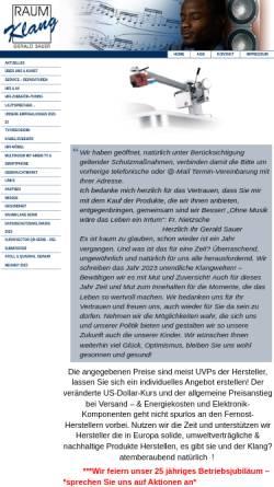 Vorschau der mobilen Webseite raumklangbonn.de, Raumklang, Inh. Gerald Sauer