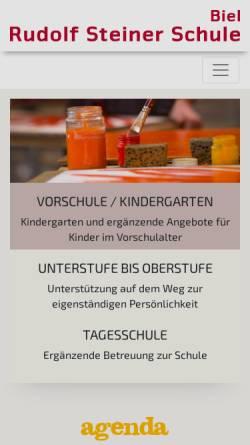 Vorschau der mobilen Webseite www.steinerschule-biel.ch, Rudolf Steiner Schule Biel