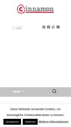 Vorschau der mobilen Webseite www.cinnamon.de, Cinnamon GmbH