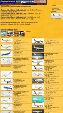 Vorschau der mobilen Webseite www.flugzeugposter.de, FlugzeugPoster