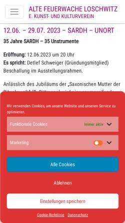 Vorschau der mobilen Webseite www.feuerwache-loschwitz.de, Alte Feuerwache Loschwitz e. V.