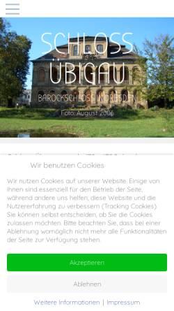 Vorschau der mobilen Webseite www.schloss-uebigau.de, Bürgerinitiative Schloss Übigau e.V.
