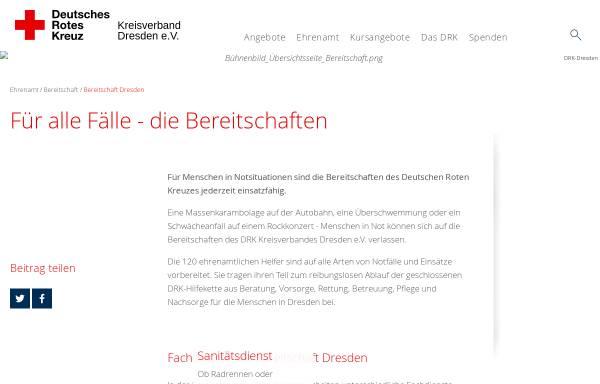 Vorschau von www.bereitschaft-dresden.de, DRK Bereitschaft Dresden