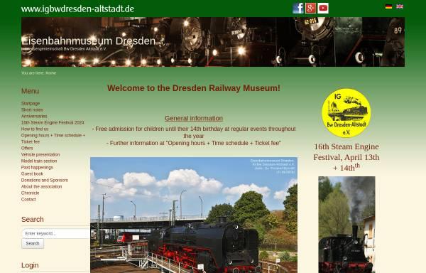 Vorschau von www.igbwdresdenaltstadt.de, IG Bahnbetriebswerk Dresden-Altstadt e.V.