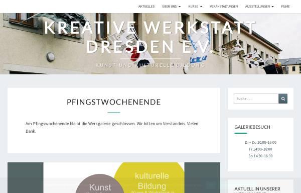 Vorschau von www.kreative-werkstatt.de, Kreative Werkstatt Dresden e.V.