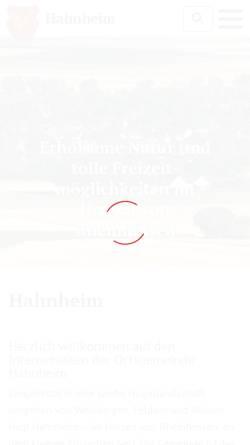 Vorschau der mobilen Webseite hahnheim.de, Ortsgemeinde Hahnheim
