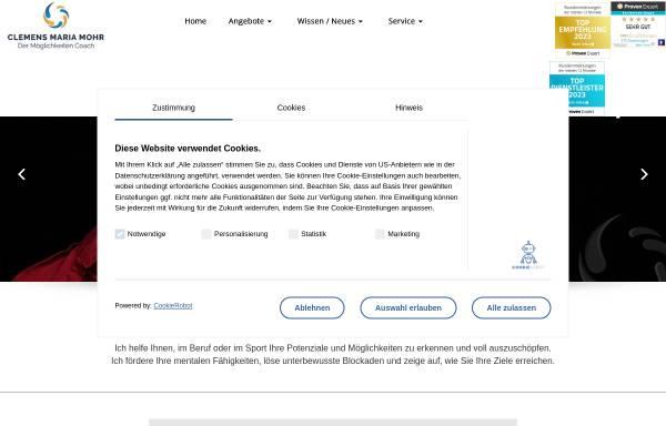 Vorschau von www.clemensmariamohr.de, Clemens Maria Mohr