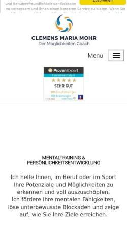 Vorschau der mobilen Webseite www.clemensmariamohr.de, Clemens Maria Mohr
