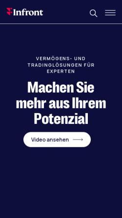 Vorschau der mobilen Webseite www.vwd.com, vwd Vereinigte Wirtschaftsdienste AG