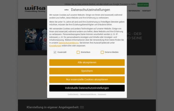 Vorschau von www.wifka.de, Wifka - Josef Resch
