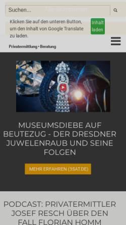 Vorschau der mobilen Webseite www.wifka.de, Wifka - Josef Resch