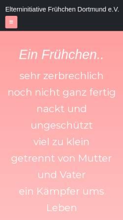 Vorschau der mobilen Webseite www.fruehchen-dortmund.de, Elterninitiative