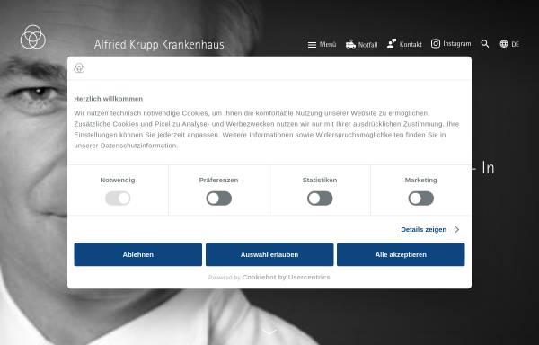 Vorschau von www.krupp-krankenhaus.de, Alfried Krupp Krankenhaus Essen