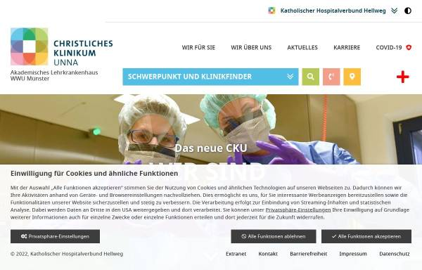 Vorschau von www.katharinen-hospital.de, Katharinen-Hospital Unna gGmbH