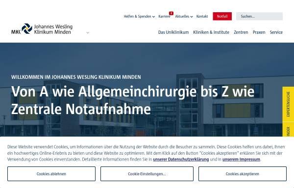 Vorschau von www.klinikum-minden.de, Kliniken im Mühlenkreis - Klinikum Minden