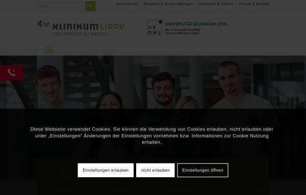 Vorschau von www.klinikum-lippe.de, Klinikum Lippe