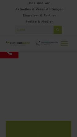 Vorschau der mobilen Webseite www.klinikum-lippe.de, Klinikum Lippe