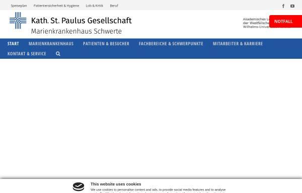 Vorschau von www.marien-kh.de, Marienkrankenhaus Schwerte