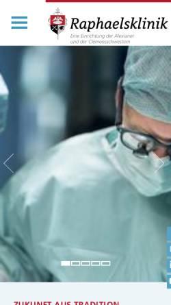 Vorschau der mobilen Webseite www.raphaelsklinik.de, Raphaelsklinik Münster