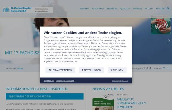 Vorschau von www.marienhospital-hamm.de, St. Marien-Hospital Hamm
