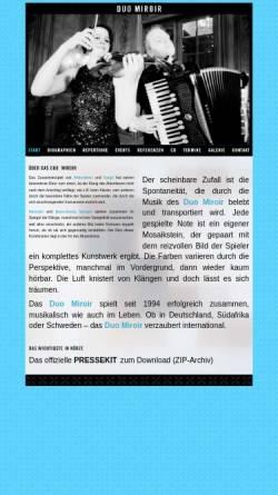 Vorschau der mobilen Webseite duomiroir.de, Duo Miroir